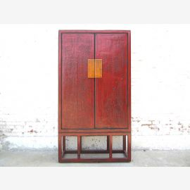 Contemporary china cabinet Natural wood red