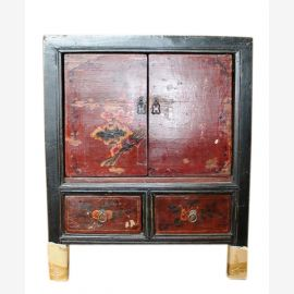 China 1890 chest of drawers bedside cabinet drawers and doors painted classic