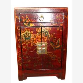 China leather look chest of drawers bedside cabinet drawers and doors