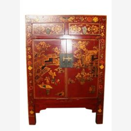China chest of drawers bedside cabinet drawers and doors painted classic