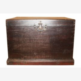 China 1910 antique solid wood chest small metal fittings