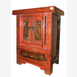China 1880 small chest of drawers bedside cabinet with 2 doors Antique