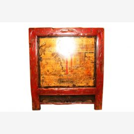 China, Mongolia 1890 antique kitchen cabinet lacquered wood