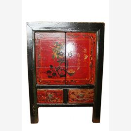 China 1890 chest of drawers bedside cabinet drawers and doors Colonial
