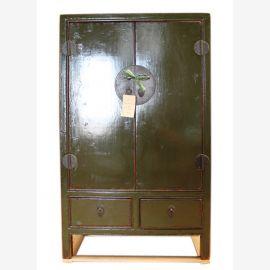 China semi- high cabinet dresser credenza olive pine wood