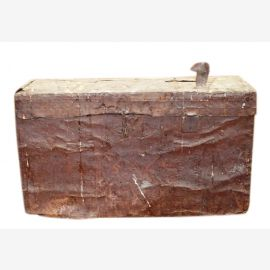 Bulgaria 1930 small chest of metal traces shabby chic antique look