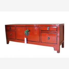 China lowboard low dresser pine ideal for flat screen TV