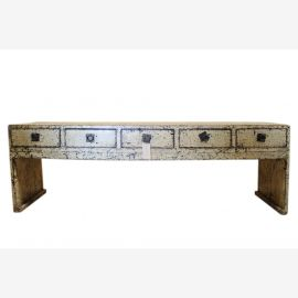 China country-style extra wide pine sideboard lowboard for flat screen