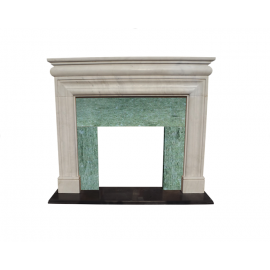 Marble fireplace Classic fireplace mantelpiece colored facade Passepartout Luxury Park
