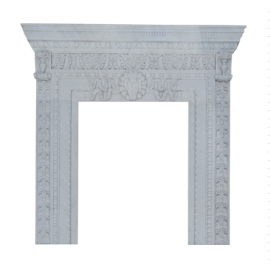 Marble fireplace, fireplace mantel made to measure solid marble K089