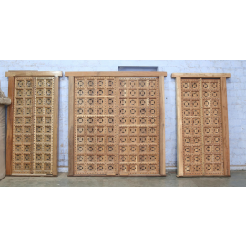 Door carved on both sides Bombay Style India Mango Wood