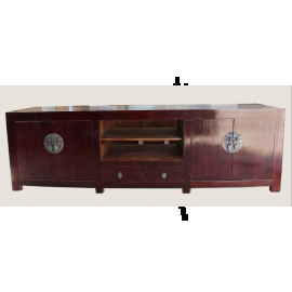 China Sideboard Shabby Chic solid wood brown