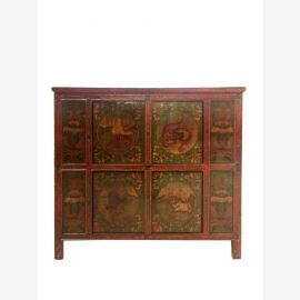 Tibet dresser 140 years old filigree painted