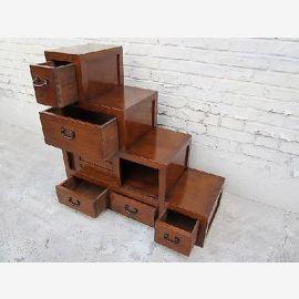 Cina CHINA stepped cabinet stair buffet pine wood como cineso legno come scala