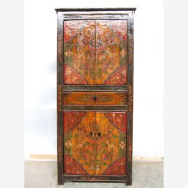 Tibet chest of drawers antique solid wood motif painting