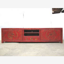 TV Lowobard China Red gold painted