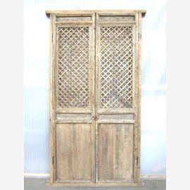 Asia high door with mesh 221x104cm Decor Antik 150 years virgin wood