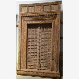 Solid wood door from India carved.