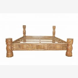 Hand Carved Indian bed in solid wood