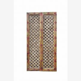 fine art INDIA small wooden DOOR PANEL Framework with zig zag cutout D ED 11-35