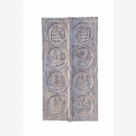 INDIA Rajasthan lovely great carved natural wood panel door KAMASUTRA D ED 11-49