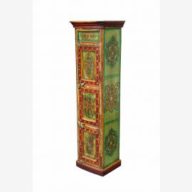 Almirah INDIA tall cabinet wardrobe armoire floral motif paintings D ED-11 61-02