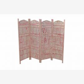 Solid wood folding screen room divider India rich carving D ED-11 65-02