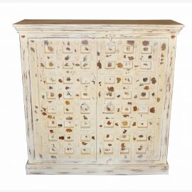 Painted chest of drawers for India wide square TV screen light blue