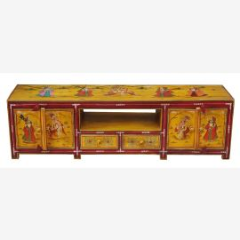 """wide chest of drawers Lowboard ideal for TV screen red and yellow livery by """"Luxury-Park"""""""