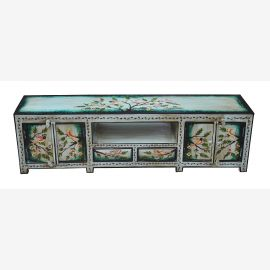 Painted flat ideal India Lowboard dresser for TV Flatscreen light blue