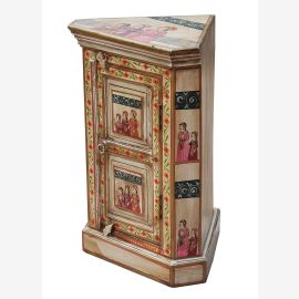 India great painted small corner cupboard dresser traditional motifs