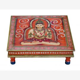 India low table square Bajót classic painted religious motive