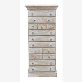 India-high dresser drawer dresser sideboard shabby chic white as chalk