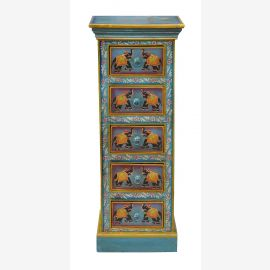 "India pale blue painted cabinet half-height A rarity by ""Luxury-Park"""