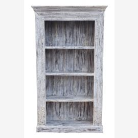 India large shelf white stained classic wide frame solid wood