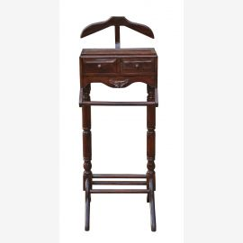 Valets donning clothes storage stand dark brown classic India