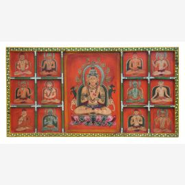 "India great carved mural panel with antique painting from ""Luxury-Park"""