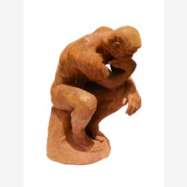 Sculpture The Thinker Auguste Rodin rust plastic cast iron