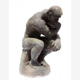 Sculpture The Thinker Auguste Rodin statue livid cast iron