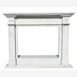 Marble fireplace, fireplace mantel made to measure solid marble K087
