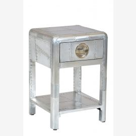 NEW Airrange polished aluminum furniture bedside airplane recycling