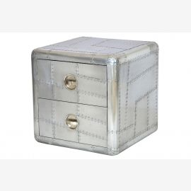 Furniture from recycled aluminum commode two drawers aircraft