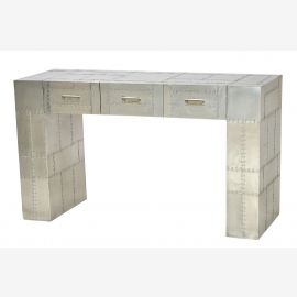 Sideboard console Concorde aircraft aluminum furniture recycling