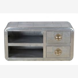 flatscreen TV sideboard sideboard aluminum airplane recycling