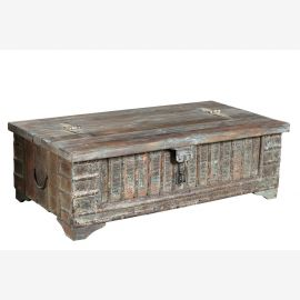 Indien 1930 maechtige Truhe Kassette Box traditionelle Gestaltung Rajasthan