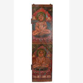 India traditionelles Wandbild Buddha Motiv Buddhismus dunkelrotes Dekor
