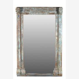 India Riesenspiegel pastellfarben geschnitzte Front aus Türrahmen heavy used optic