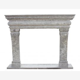 Fireplace Avignon Marble Genuine Antique Gray Antique