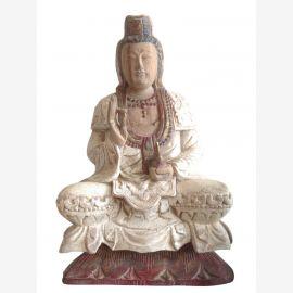 China Kwan Yin Sculpture antique 70ys