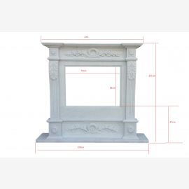 Marble fireplace, fireplace facade made to measure solid marble K009